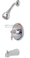 Premier 120137 Wellington Single-Handle tub and shower Faucet Chrome