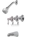 Premier 120141 Wellington Three-Handle Tub & shower Faucet Chrome