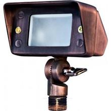 Dabmar LV116 Brass Directional Area Flood Light With Hood