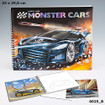 Create Your Monster Cars Colouring Book  www.the-village-square.com EAN:  4010070238773