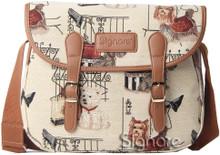 Tapestry Messenger Fashion Dog by Signare  www.the-village-square.com EAN:  5060309460672 MPN: MESG-FSDG