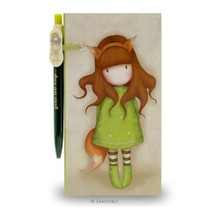 Gorjuss Jotter With Pen - The Fox www.the-village-square.com EAN:  5018997516959 MPN:  312GJ08