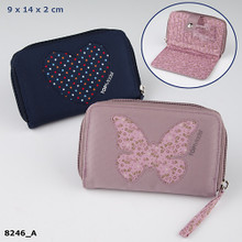 TOPModel Purse with Heart or Butterfly Design in Black or Beige (8246_A) www.The-Village-Square.com
