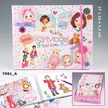 Create Your TOPModel Fashion Kids Colouring Book  www.the-village-square.com EAN: 4010070244316