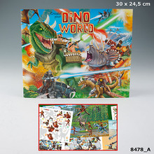 Create Your  Dino World Colouring  and Sticker Book www.the-village-square.com EAN: 4010070275143