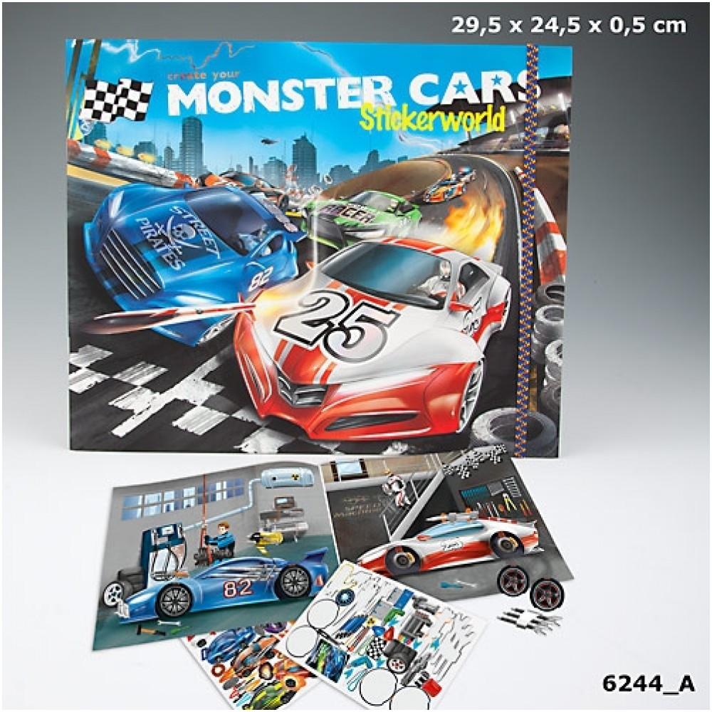 Monster Cars Stickerworld The Village Square Com