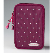TOPModel Filled Pencil Case Triple - Stars and Stars - Burgundy www.the-village-square.com EAN: 4010070293192