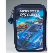 Monster Cars Filled Triple Pencil Case - Navy Blue www.the-village-square.com EAN:   4010070286507