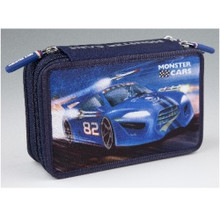 Monster Cars Filled Triple Pencil Case  www.the-village-square.com EAN:   4010070303280