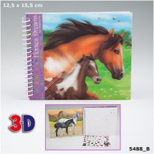 Horses Dream Pocket Colouring Book - 3D www.the-village-squate.com EAN: 4010070301033