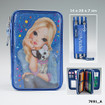TOPModel Filled Pencil Case Triple Friends - Blue www.the-village-square.com EAN:4010070319120