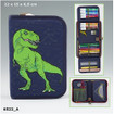 Dino World Filled Pencil Case Deluxe www.the-village-square.com EAN:4010070320874