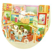Santoro Popnrock 3D Greeting Card - Pet Shop Greeting Cards www.the-village-square.com EAN:  5018997090930 Pop-Ups Birthday Card