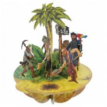 Santoro 3D Pop-Up Pirouette Greeting Card - Treasure Island www.the-village-square.com EAN:  5018997240281 Pop-Ups Birthday Card
