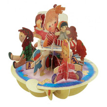 Santoro 3D Pop-Up Pirouette Greeting Card - Ragdolls www.the-village-square.com EAN: 5018997240366 Pop-Ups Birthday Card