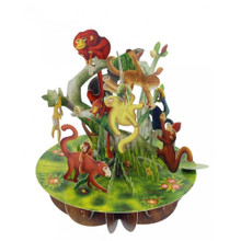 Santoro 3D Pop-Up Pirouette Greeting Card - Monkeys www.the-village-square.com EAN: 5018997240403 Pop-Ups Birthday Card