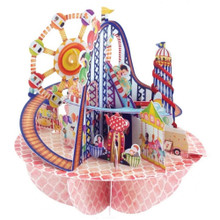 Santoro 3D Pop-Up Pirouette Greeting Card -  Fairground www.the-village-square.com EAN:  5018997240489 Pop-Ups Birthday Card