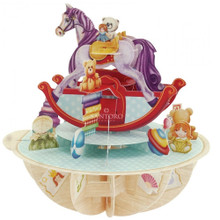 Santoro 3D Pop-Up Pirouette Greeting Card - Rocking Horse www.the-village-square.com EAN: 5018997240526 Pop-Ups Birthday Card