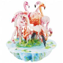 Santoro 3D Pop-Up Pirouette Greeting Card -  Flamingos EAN:  5018997240564 www.the-village-square.com Pop-Up greeting card
