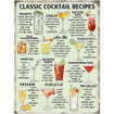 Cocktail Recipes Large Metal Wall Sign - The Original Metal Sign Co. EAN:  5060339158259 www.the-village-square.com