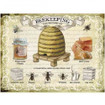 Beekeeping Large Metal  Wall Sign - The Original Metal Sign Co.. EAN:  5060259846014 www.the-village-square.com