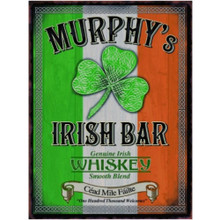 Murphy's Irish Bar Large Metal Wall Sign - The Original Metal Sign Co. EAN: 5060259849374 www.the-village-square.com