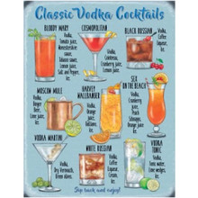 Classic Vodka Cocktails Large Metal Wall Sign - The Original Metal Sign Co. EAN:5056175712663 www.the-village-square.com