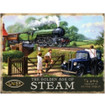 L.N.E.R. Landscape - The Golden Age of Steam Large Metal Wall Sign - The Original Metal Sign Co. 5060162981079 www.the-village-square.com
