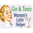 Gin & Tonic Mini Metal Wall Sign - The Original Metal Sign Co. EAN: 5060162986579 www.the-village-square.com