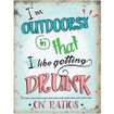 I'm Outdoorsy Mini Metal Wall Sign - The Original Metal Sign Co. EAN: 5060508835769 www.the-village-square.com