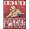Cockapoo Mini Metal Wall Sign - The Original Metal Sign Co. EAN: 5060424061921 www.the-village-square.com