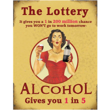 The Lottery Mini Metal Wall Sign - The Original Metal Sign Co. EAN: 5060469803456 www.the-village-square.com