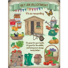 Allotment Mini Metal Wall Sign - The Original Metal Sign Co. EAN: 5056175712274 www.the-village-square.com