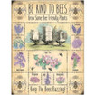 Be Kind To Bees Mini Metal Wall Sign - The Original Metal Sign Co. EAN: 5056175712328 www.the-village-square.com