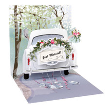 Pop-Up Greeting Card Trearures by Popshots Studios -  Wedding Car Barcode: 048641333910 www.the-village-square.com