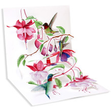 Pop-Up Greeting Card Trearures by Popshots Studios - Humming Birds Barcode: 048641597053 www.the-village-square.com