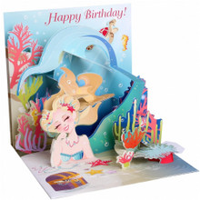 Pop-Up Greeting Card Trearures by Popshots Studios - Mermaid's Birthday Barcode: 048641531651 www.the-village-square.com