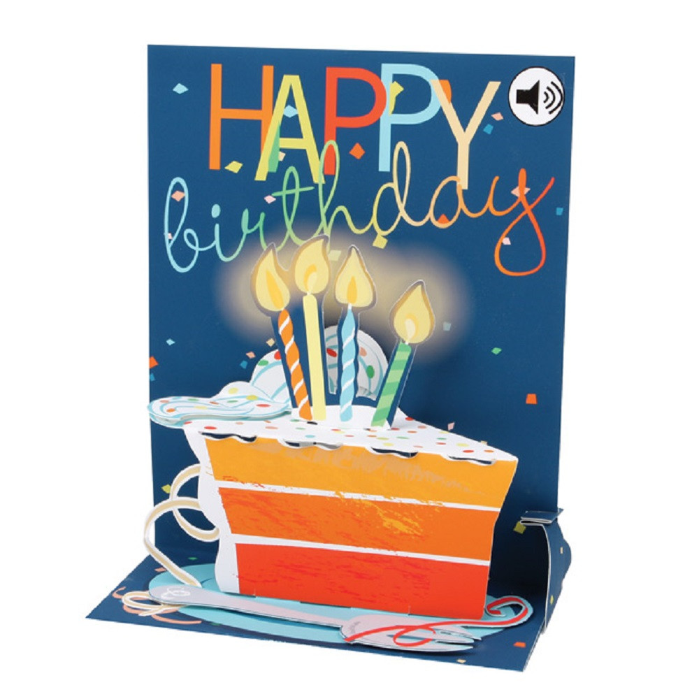 Pop Up Sight N Sound Greeting Card By Popshots Studios Big Slice