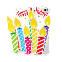 Pop-Up Sight 'n Sound Greeting Card by Popshots Studios - Birthday Candles Barcode: 048641305160 www.the-village-square.com