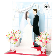 Pop-Up Sight 'n Sound Greeting Card by Popshots Studios - Wedding Barcode:  048641304767 www.the-village-square.com