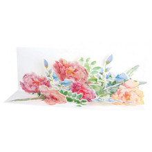 Panoramics  Pop-Up Greeting Card by Popshots Studios -  Peony Bouquet Barcode:  04864155558 www.the-village-square.com