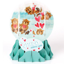 Pop-Up Greeting Card Everyday Globes by Popshots Studios - Otter-ly in Love Barcode: 048641346712 www.the-village-square.com