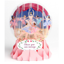 Pop-Up Greeting Card Everyday Globes by Popshots Studios - Ballerina Barcode: 048641532351 www.the-village-square.com