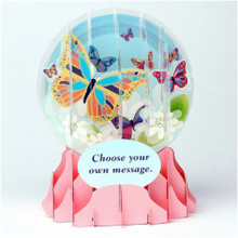Pop-Up Greeting Card Everyday Globes by Popshots Studios - Big Butterfly Barcode: 048641513053 www.the-village-square.com