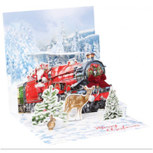 Pop-Up Christmas Card Trearures by Popshots Studios - Santa's Express Barcode: 048641343919 www.the-village-square.com