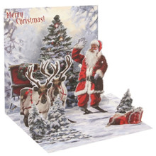 Pop-Up Christmas Card Trearures by Popshots Studios - Jolly Santa Barcode: 048641562457 www.the-village-square.com