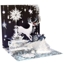 Pop-Up Christmas Card Trearures by Popshots Studios -  Reindeer Silhoutte Barcode: 048641522550 www.the-village-square.com