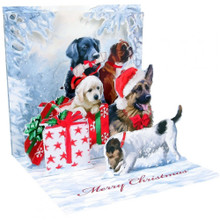 Pop-Up Christmas Card Trearures by Popshots Studios - Christmas Dog Barcode:  048641305924 www.the-village-square.com