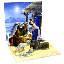 Pop-Up Christmas Card Trearures by Popshots Studios - Holy Child Barcode:  048641194542 www.the-village-square.com