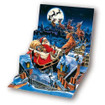 Pop-Up Christmas Card Trearures by Popshots Studios - Santa's Sleigh Ride Barcode:  04864118043 www.the-village-square.com